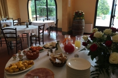 Breakfast at the Agriturismo base in Tuscany