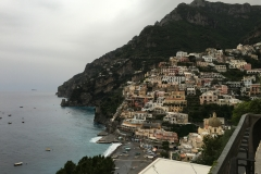 View from the Positano villa where the group stayed for three nights