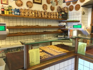 Focacceria in Liguria, where focaccia bread was originally invented.
