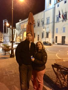 Jami & Jack in the Etruscan town of Tarquinia