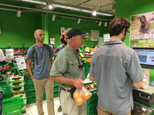 The group is learning how to do grocery shopping Italian style. That was different!!!